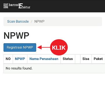 Klik tombol Registrasi NPWP