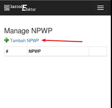 NPWP List