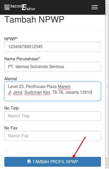 NPWP Form