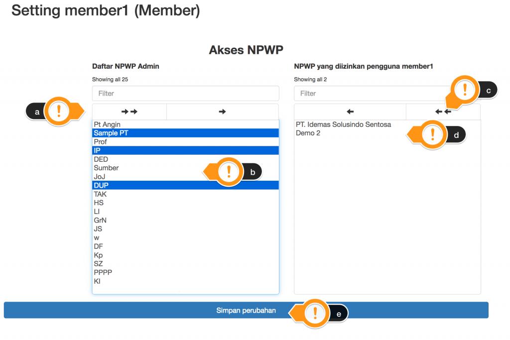 edit npwp member